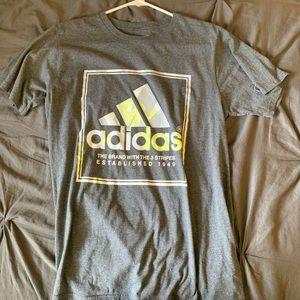 Men's grey Adidas tee
